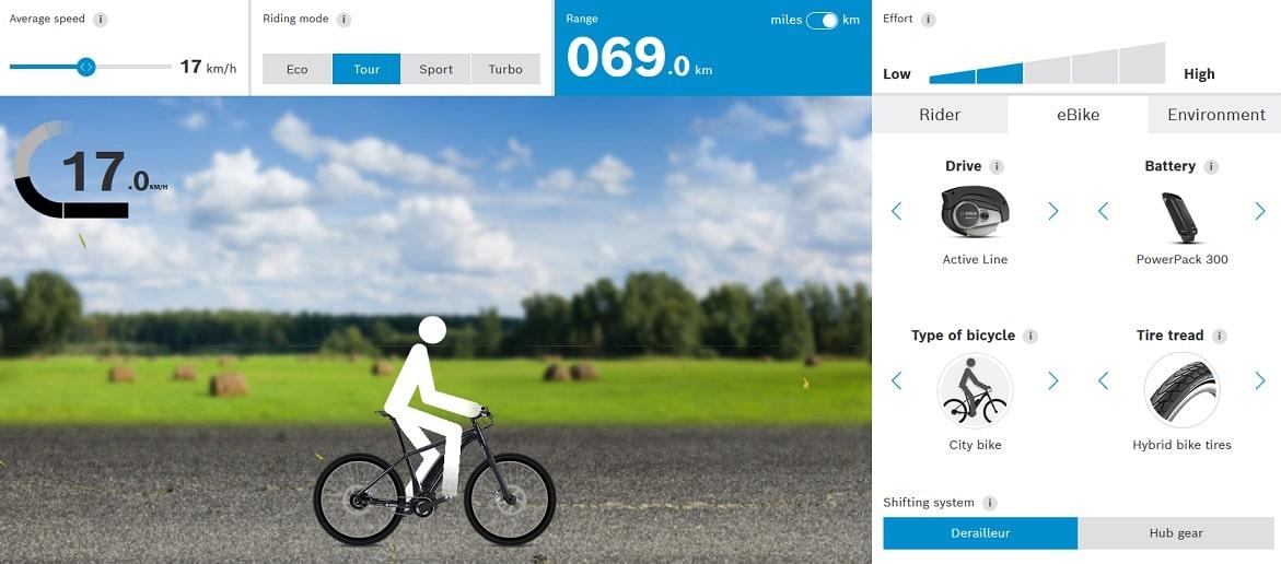 E-Bike: autonomía de la batería