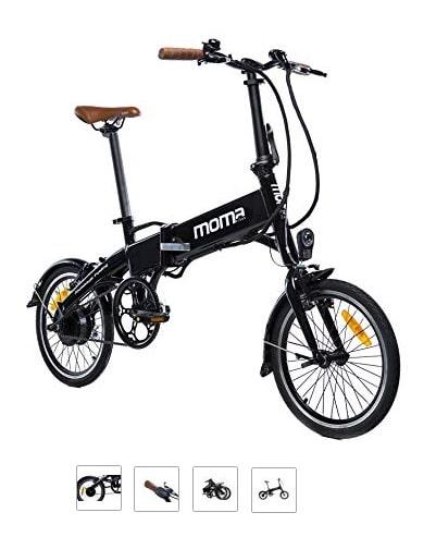 Bicicleta eléctrica plegable barata Moma E-Bike 16