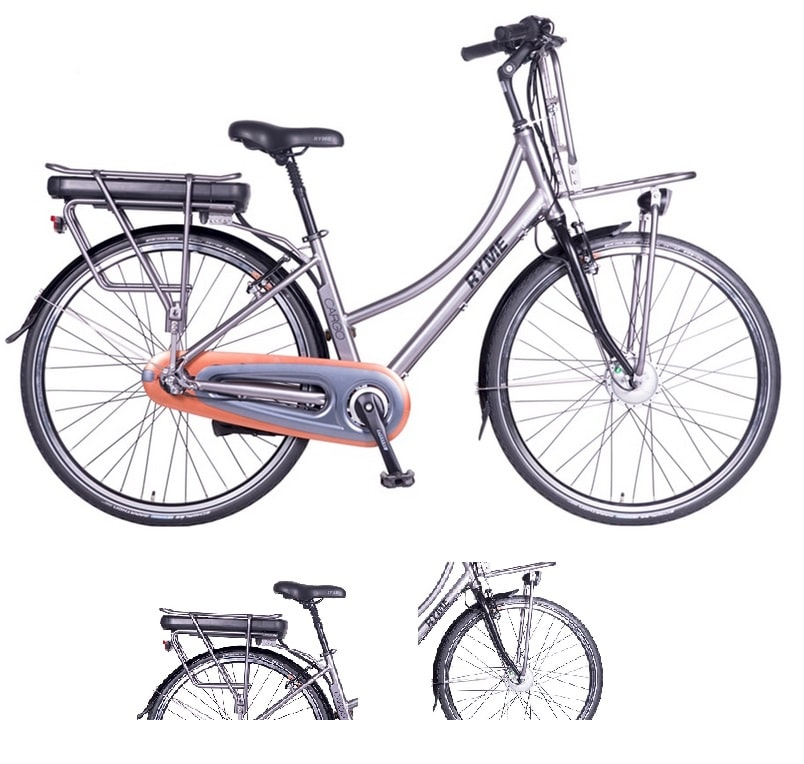 bicicleta eléctrica de paseo rymebikes cargo