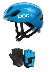 Bici sin pedales: casco y guantes