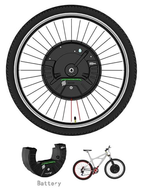 Kit electrico para bicicleta en rueda delantera 350W