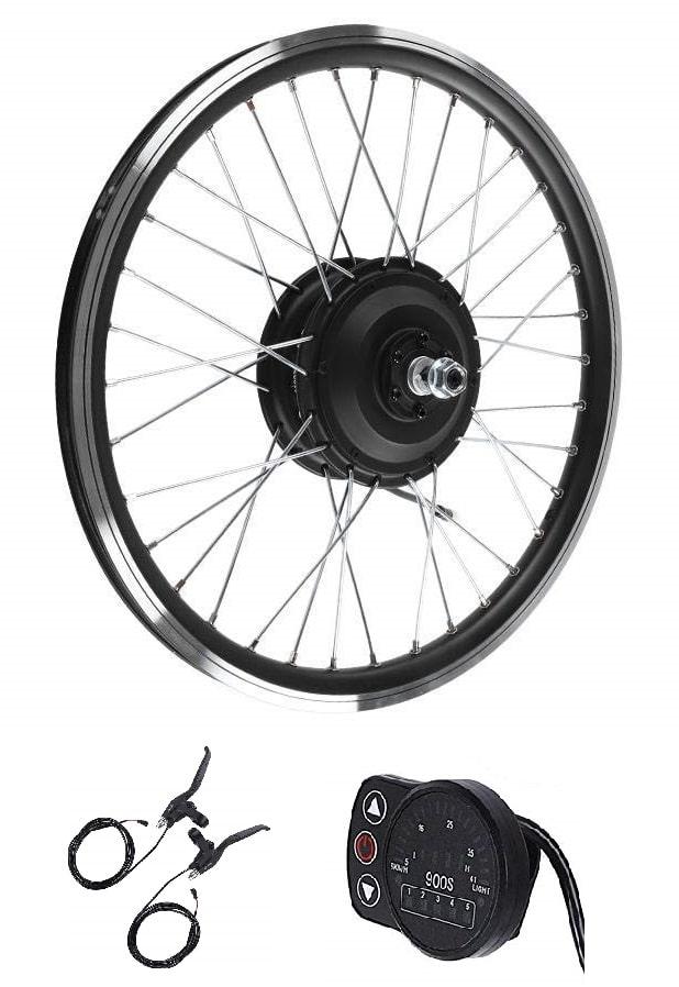 Kit electrico para bicicleta en rueda delantera barato