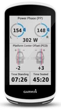 Vatios en el GPS Garmin Edge 1030