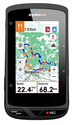 Mapas del GPS para bicicletas Xplova X5 Evo