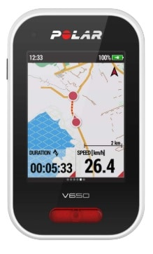 Mapas del ciclocomputador GPS para bicicletas Polar V650