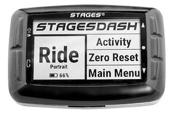 Menú del GPS bicicleta Stages Cycling Dash L10
