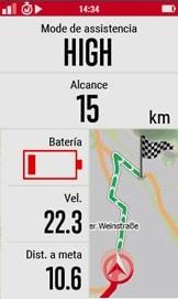 E-Bike en el GPS MTB Sigma Rox 12.0 Sport