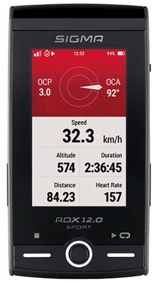 Potencia en el GPS MTB Sigma Rox 12.0 Sport