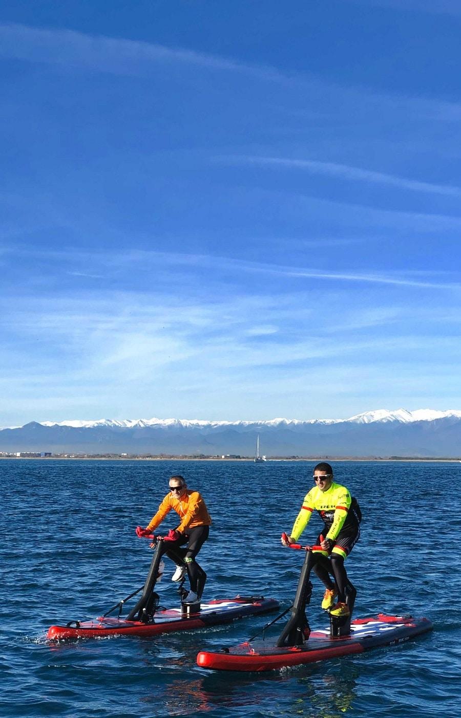 Ciclismo acuático en invierno