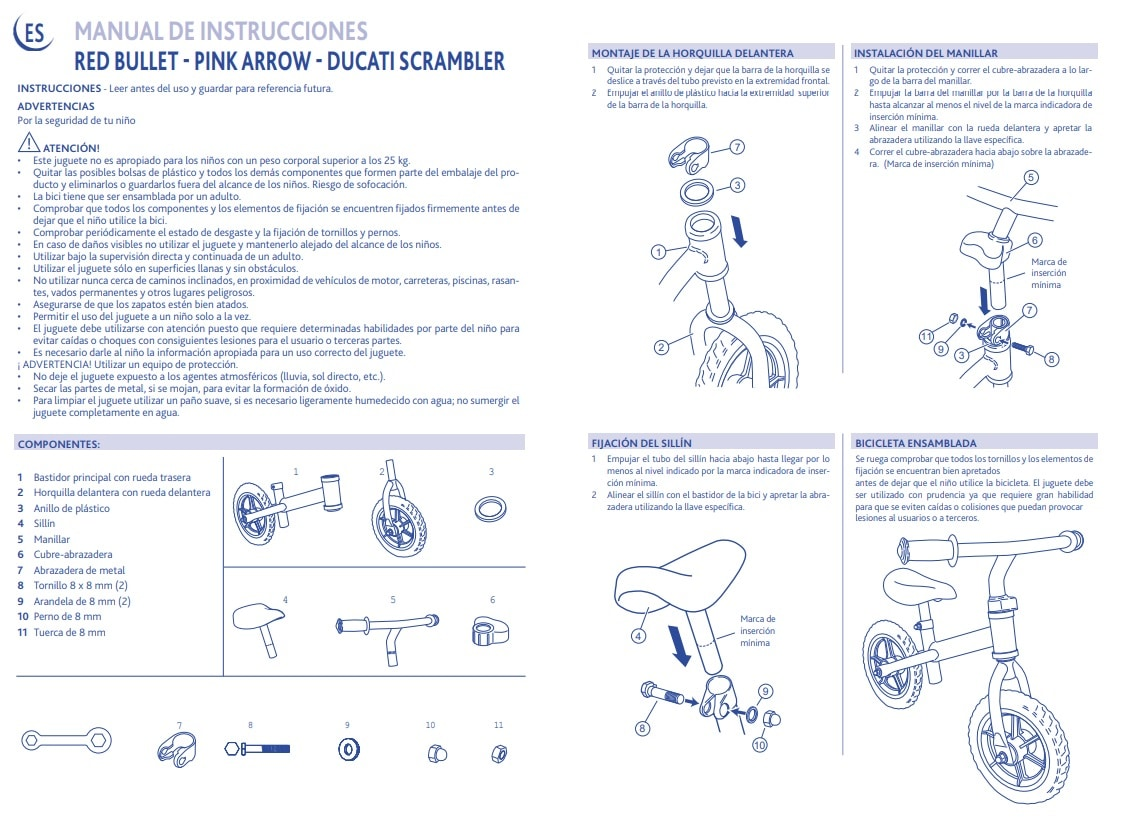Manual de instrucciones de la bicicleta Chicco First Bike