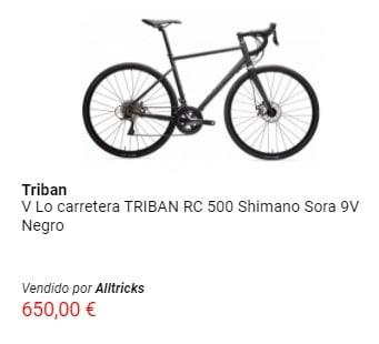 Oferta en bicicleta de carretera Triban