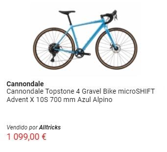 Oferta en bicicleta gravel Cannondale