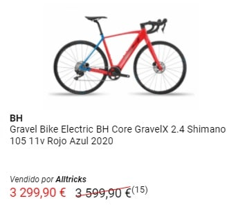 Oferta en bicicleta gravel eléctrica BH