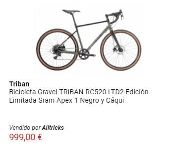 Oferta en bicicleta gravel Triban