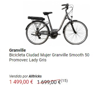 Oferta bicicleta eléctrica Granville