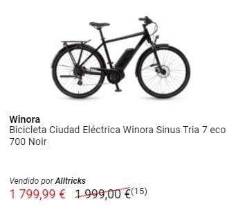 Oferta bicicleta eléctrica Winora