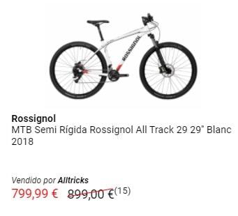 Outlet de bicicletas de montaña Rossignol