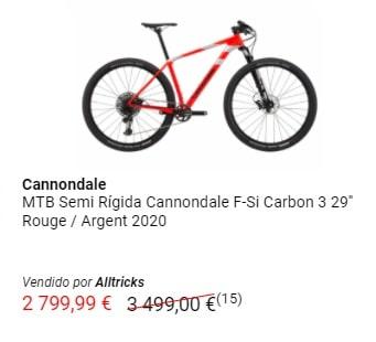 Outlet MTB oferta bicicleta Cannondale