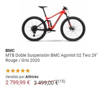 Liquidación MTB Doble suspensión BMC
