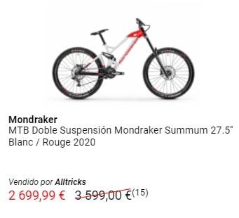 Liquidación MTB Doble suspensión Mondraker