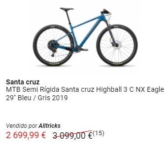 Outlet MTB oferta bicicleta Santa Cruz