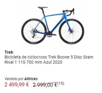 Oferta bicicleta Trek Boone