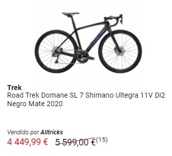 Oferta bicicleta Trek Domane