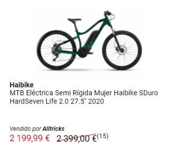 Oferta MTB eléctrica Haibike