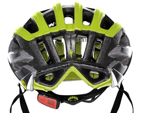 Vista trasera del casco Specialized S-Works Prevail ANGI MIPS
