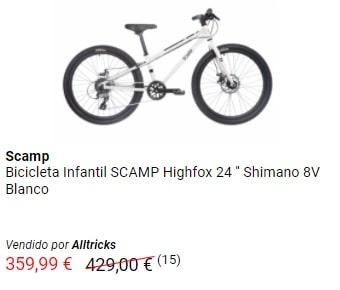 "Oferta en bicicleta 24"" de outlet"